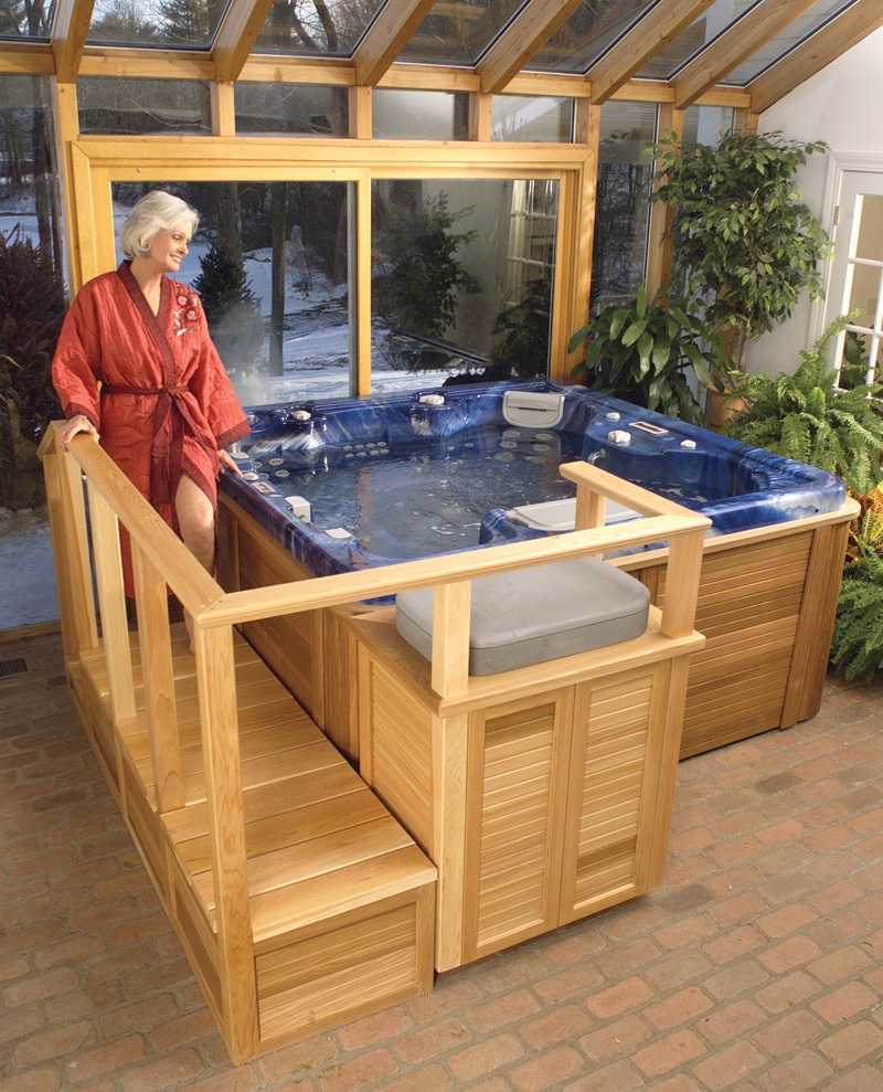 hot tub easy entry system