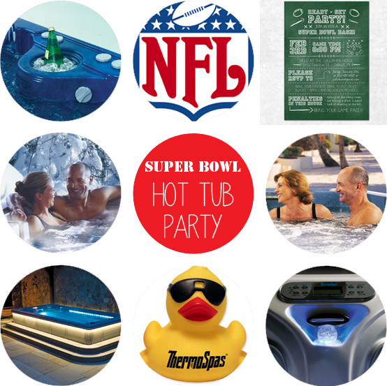 super bowl hot tub party