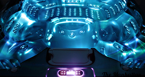 4 Foot Led Lights >> Manhattan: 6 Person Luxury Hot Tub From Thermospas ...