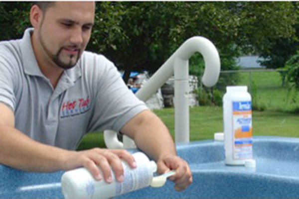 storing your hot tub chemicals