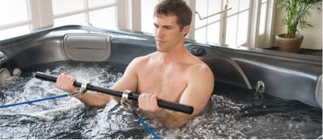 ultimate workout in a hot tub thermospas