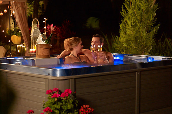 Romantic Hot Tub Heat things up for a romantic night in your hot tub