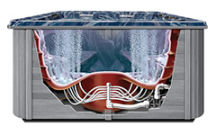 thermospas hot tub engineering bubbling system