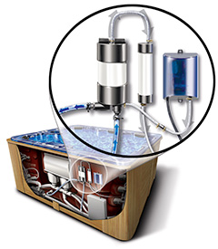 thermospas hot tub engineering water purification