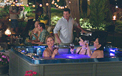 hot tub lifestyle entertaining friends