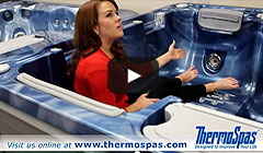 thermospas hot tub massage wave lounge video